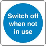 Mandatory Safety Sign - Switch Off When 146